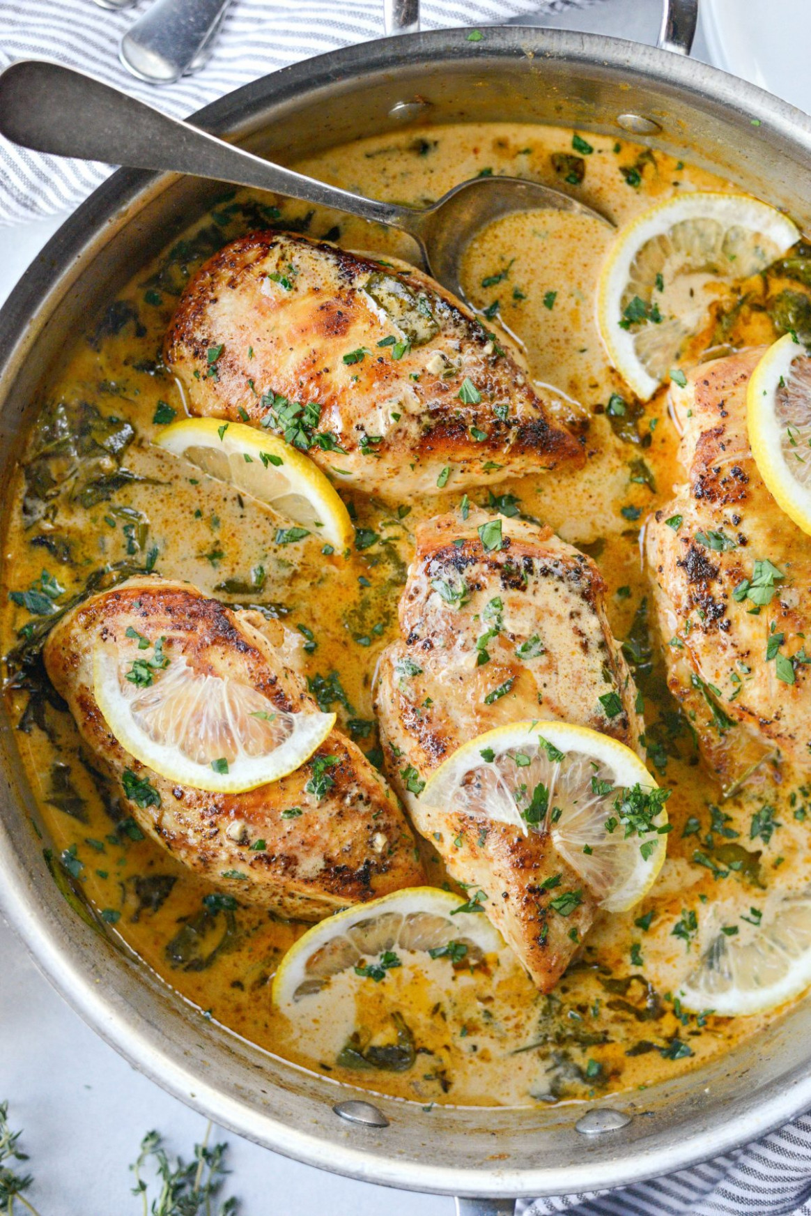 Creamy Lemon Chicken with Spinach - Simply Scratch - recipes lemon chicken