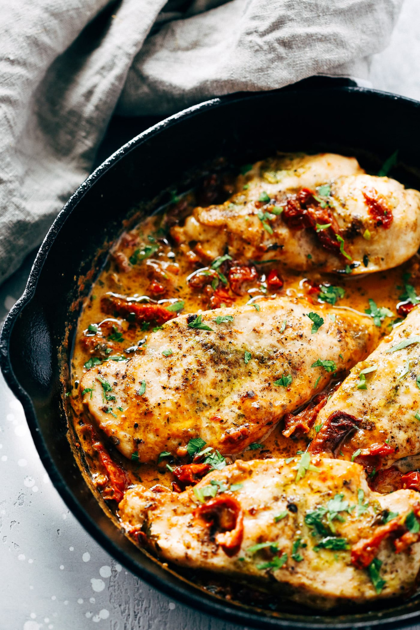Creamy Parmesan Chicken Skillet - recipes parmesan chicken