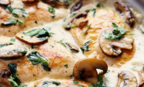 Creamy Parmesan Garlic Mushroom Chicken | Recipe | Healthy ..