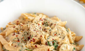 Creamy Spicy Vegan Sausage Pasta With Spinach Recipe | Well ..