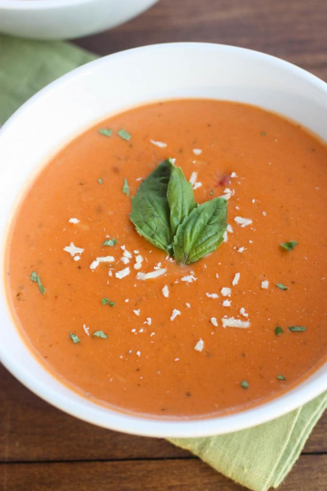 Creamy Tomato, Basil, Parmesan Soup - Tastes Better From ..
