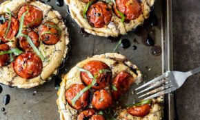 Creamy Tomato Basil Tartlets – Summer Food Recipes