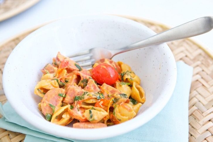 Creamy Tomato Pasta Half 10 - Make Healthy Easy - Jenna ..