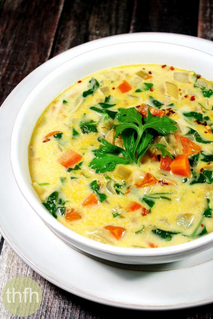 Creamy Vegan Vegetable Minestrone Soup (Vegan, Gluten-Free ..