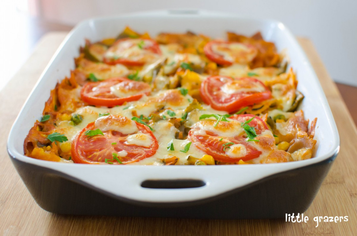 Creamy Vegetable Pasta Bake | Little Grazers - pasta bake recipes vegetarian