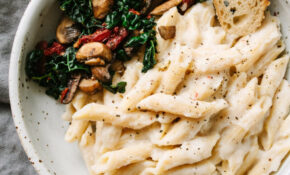 Creamy White Bean & Cauliflower Alfredo (Vegan + Healthy) – Healthy Recipes Cauliflower