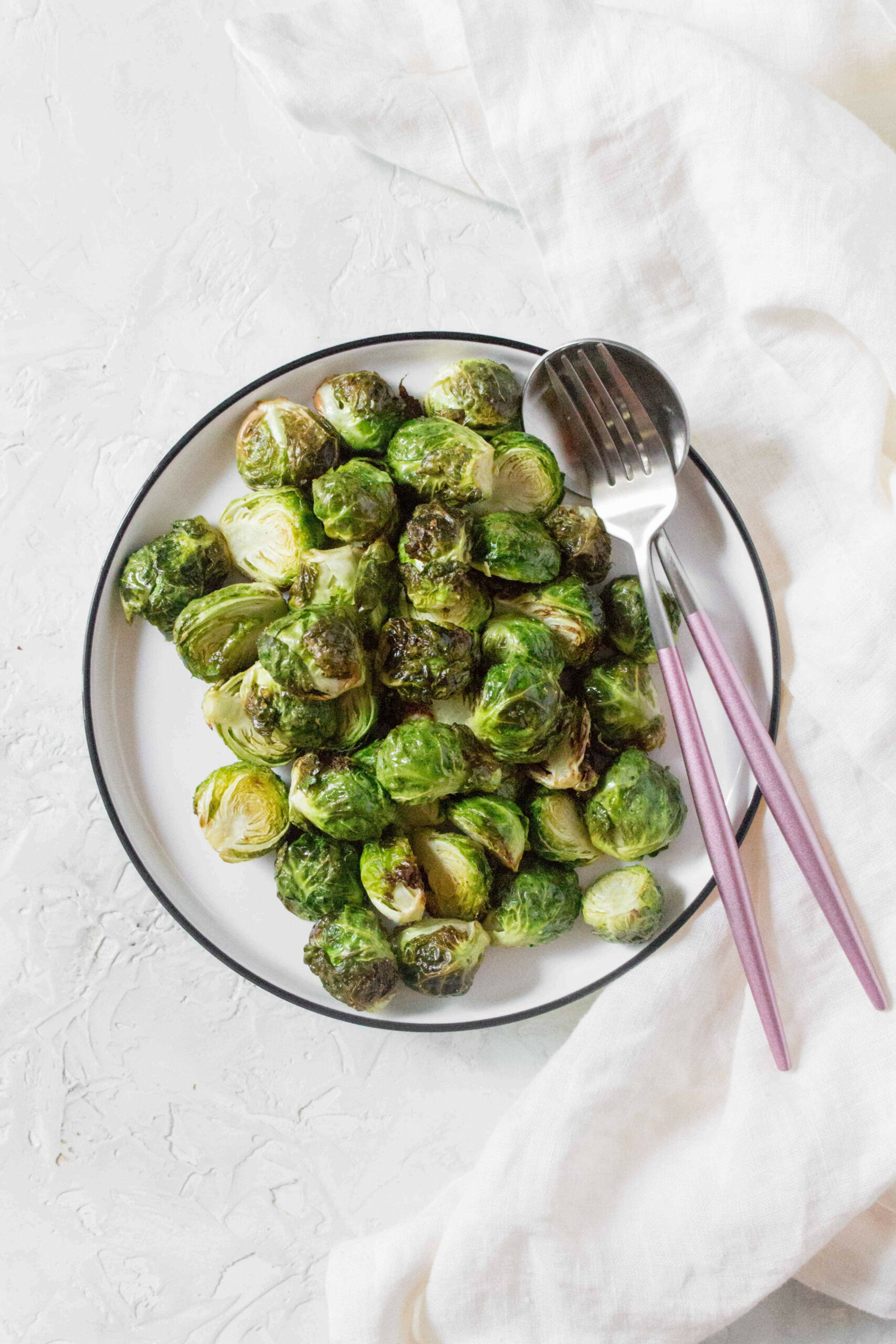 Crispy Air Fryer Brussel Sprouts - Carmy - Run Eat Travel - air fryer recipes vegetarian indian