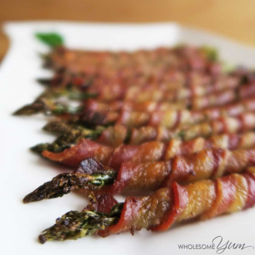 Crispy Bacon Wrapped Asparagus (Paleo, Low Carb) - food recipes bacon