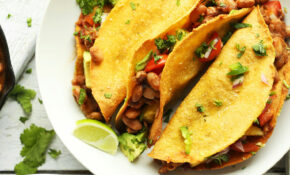 Crispy Baked Tacos With Pineapple Salsa – Recipe Vegetarian Tacos Filling