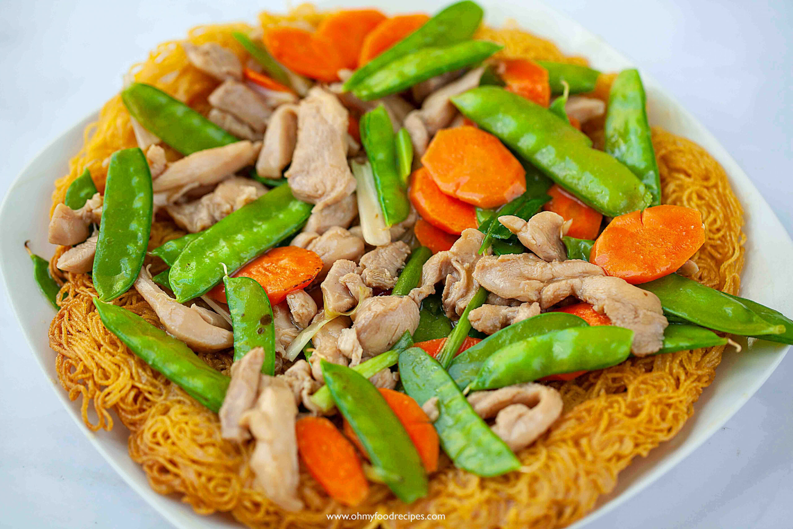 Crispy Pan Fried Noodles - chinese food recipes