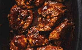 Crock Pot BBQ Chicken Thighs • Low Carb With Jennifer – Quick Crock Pot Recipes Chicken