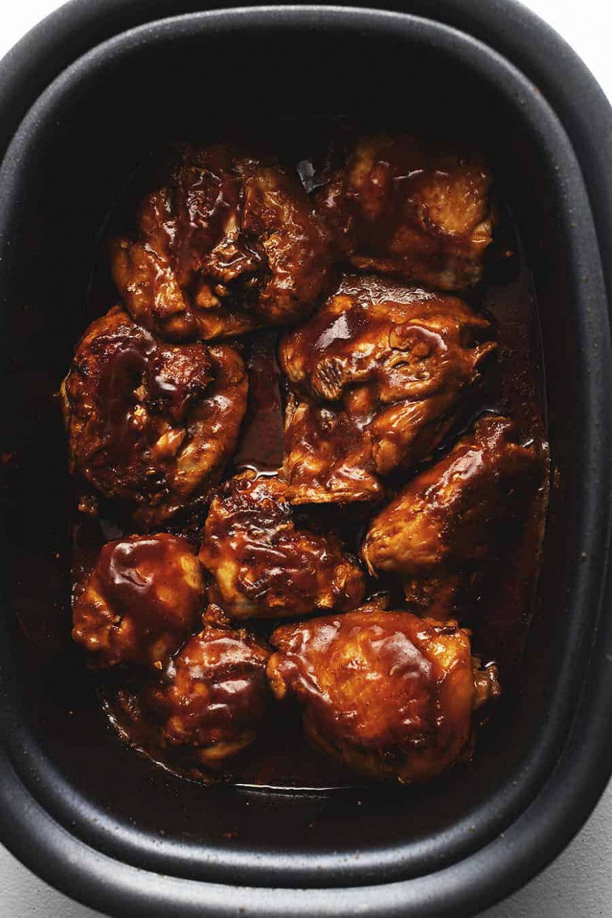 Crock Pot BBQ Chicken Thighs • Low Carb with Jennifer - quick crock pot recipes chicken