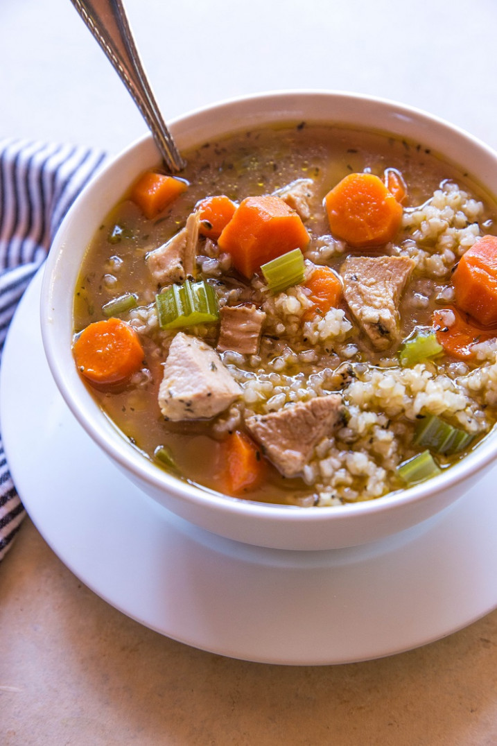 Crock Pot Chicken and Rice Soup - chicken recipes soup