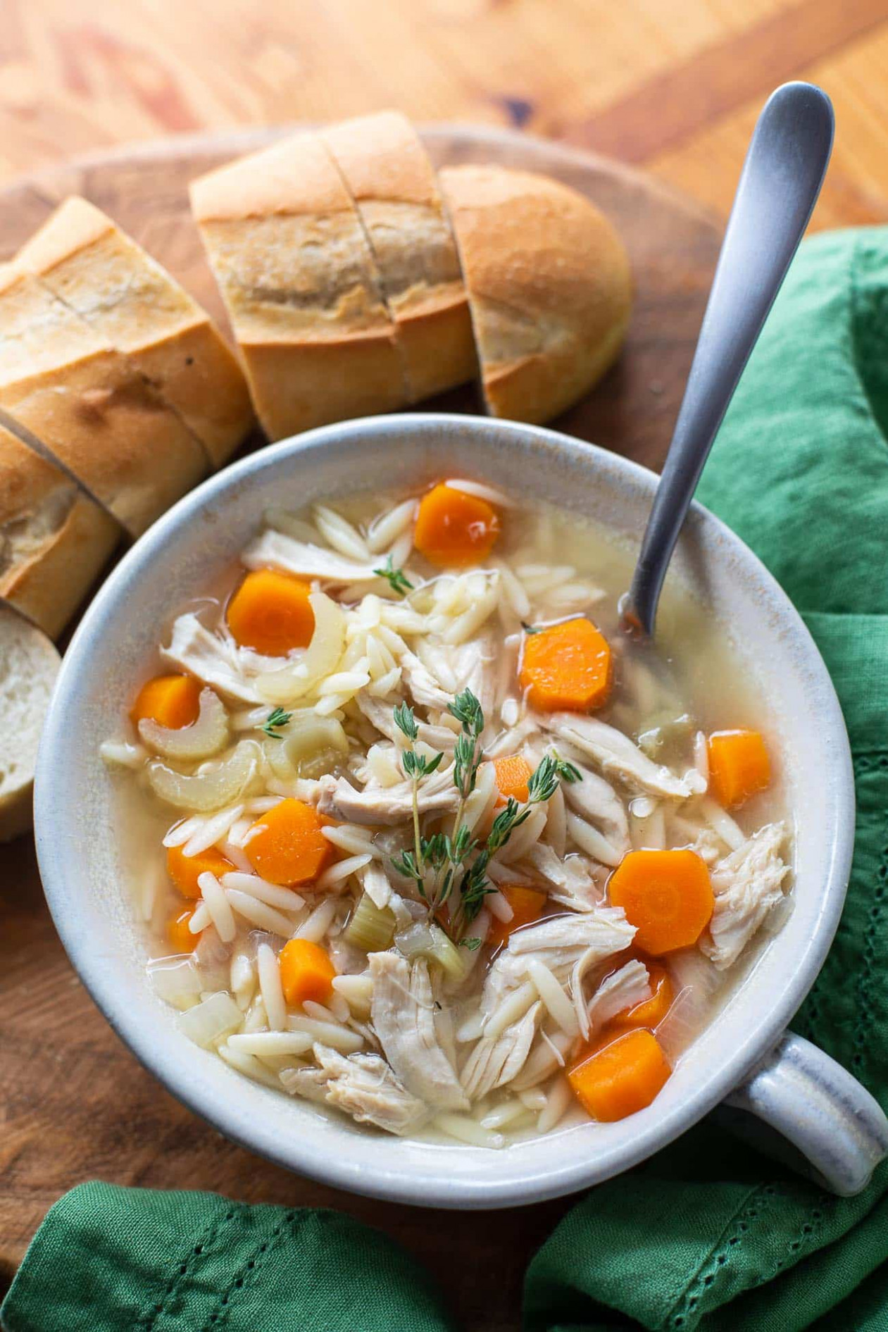 Crock Pot Chicken Orzo Soup - Best Crockpot Chicken Recipes