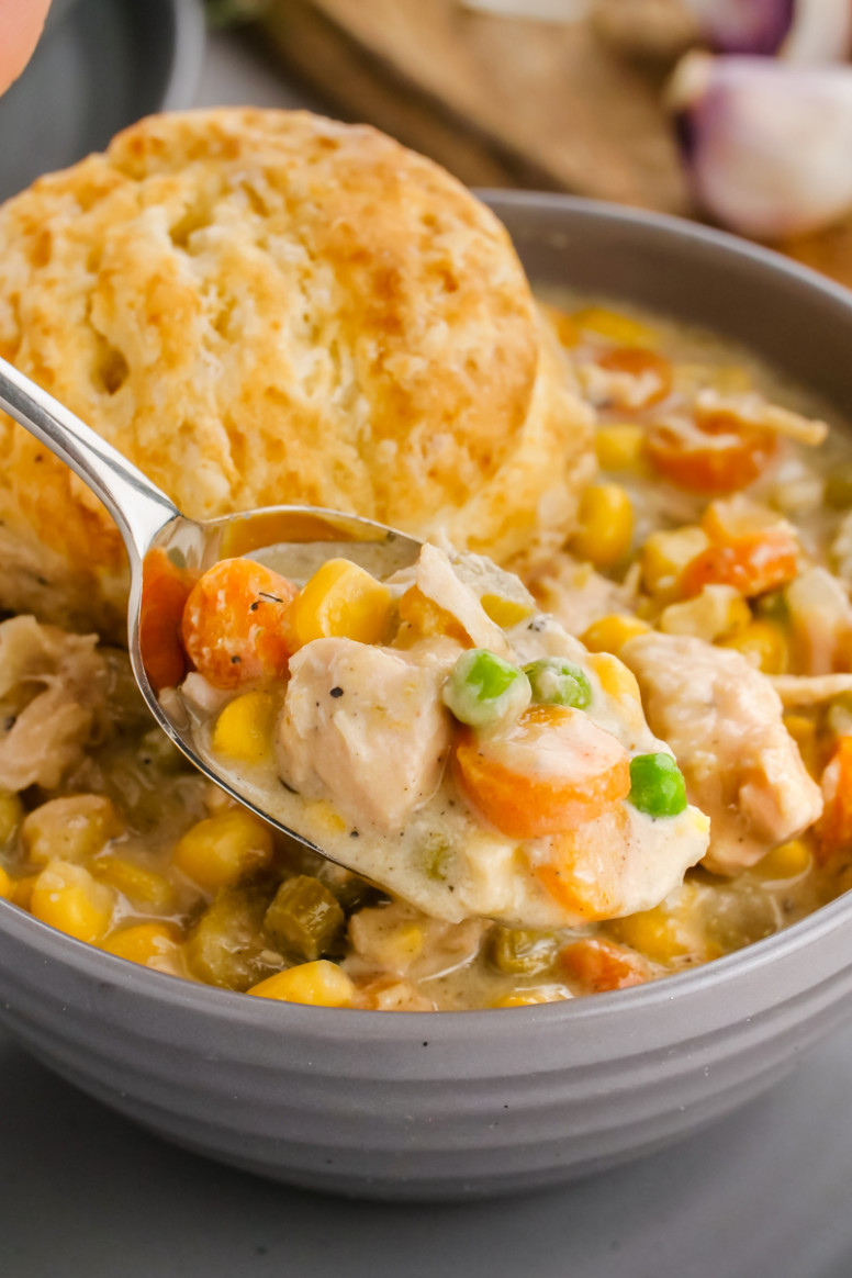 Crock Pot Chicken Pot Pie - Easy Peasy Meals - easy crock pot recipes chicken