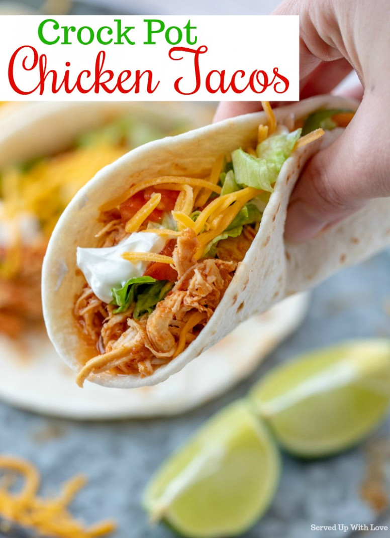 Crock Pot Chicken Tacos - easy crock pot recipes chicken