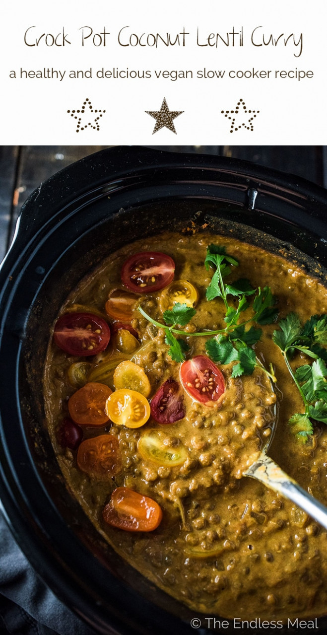 Crock Pot Coconut Lentil Curry | The Endless Meal® - healthy recipes crock pot