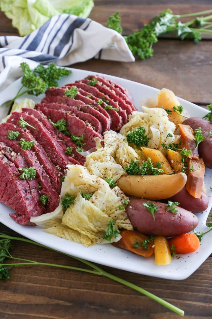 Crock Pot Corned Beef and Cabbage - meat recipes dinner