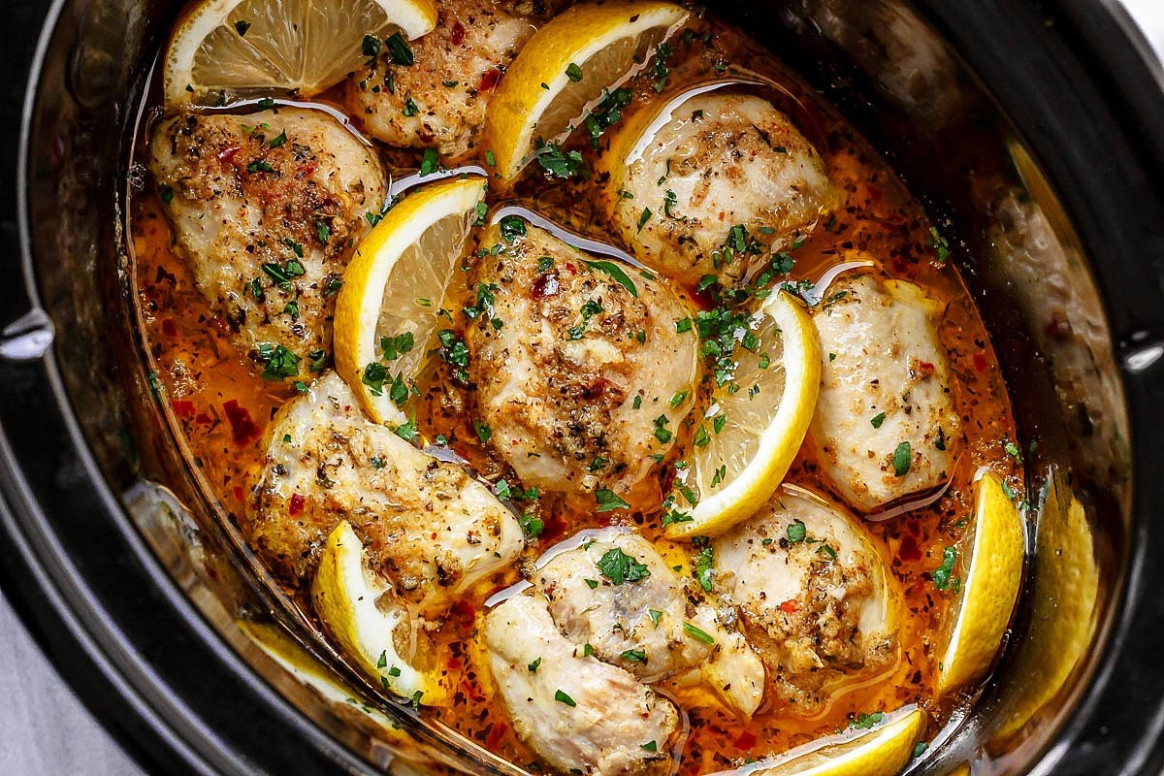 Crock Pot Lemon Garlic Butter Chicken - best crockpot chicken recipes