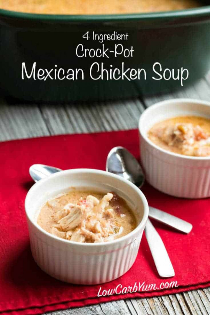 Crock Pot Mexican Chicken Soup | Low Carb Yum - low carb crock pot recipes chicken