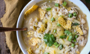 Crock Pot White Chicken Chili – Healthy Chicken Recipes In Slow Cooker