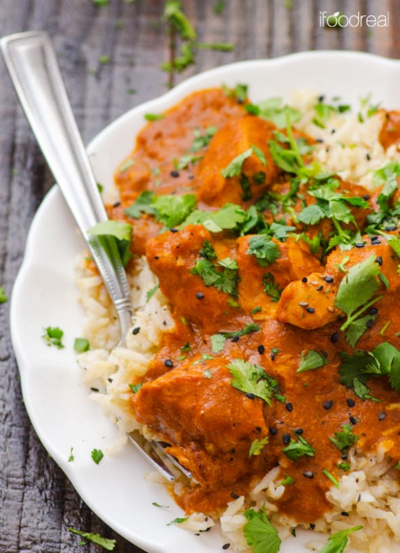 Crockpot Butter Chicken - iFOODreal - Healthy Family Recipes - recipes crock pot healthy