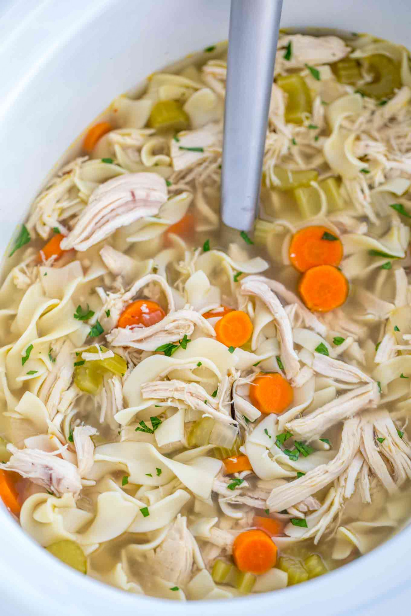 Crockpot Chicken Noodle Soup - recipes in crock pot with chicken