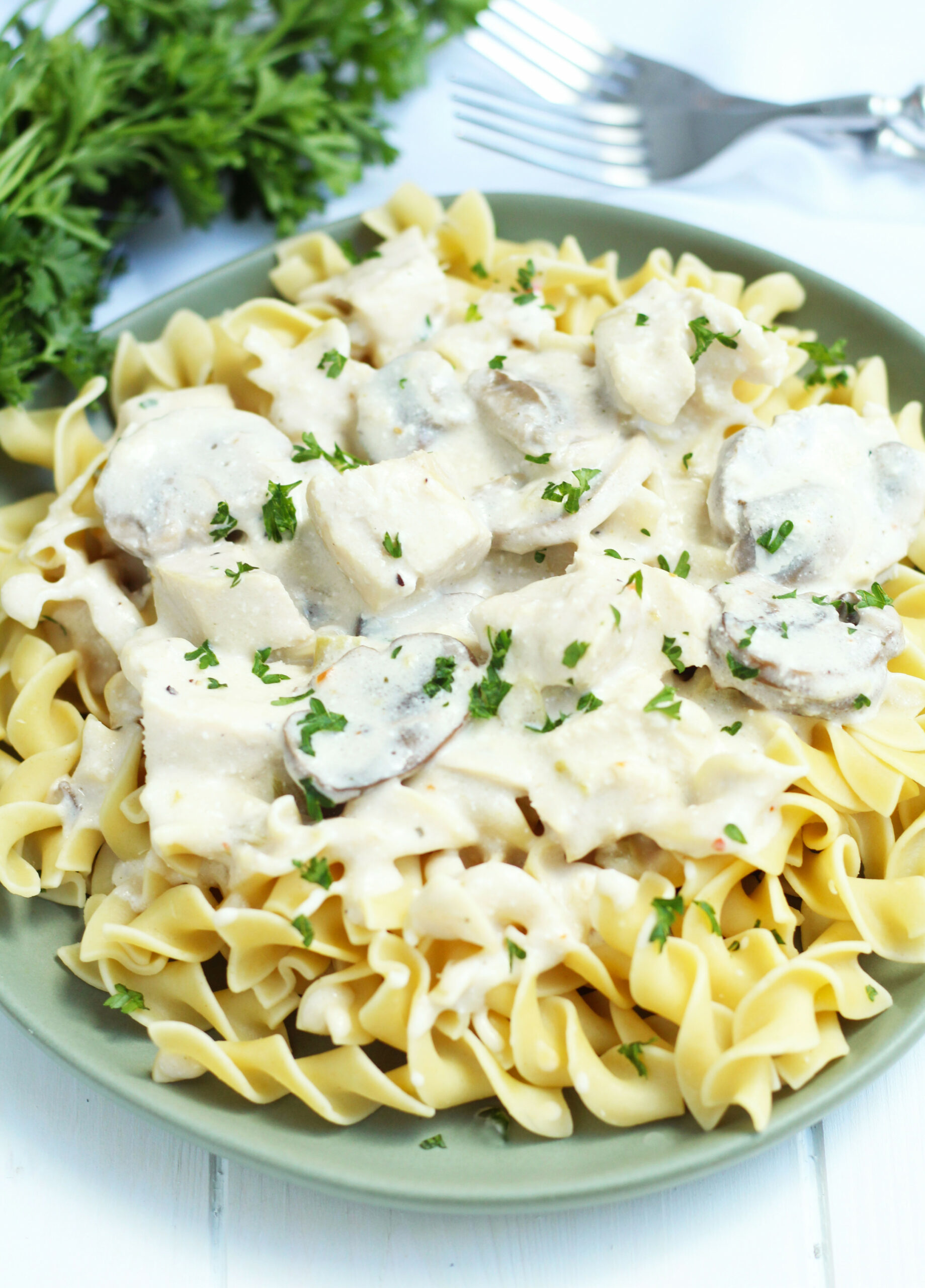 Crockpot Chicken Stroganoff - 3 Yummy Tummies - Chicken Recipes With Cream Of Mushroom Soup