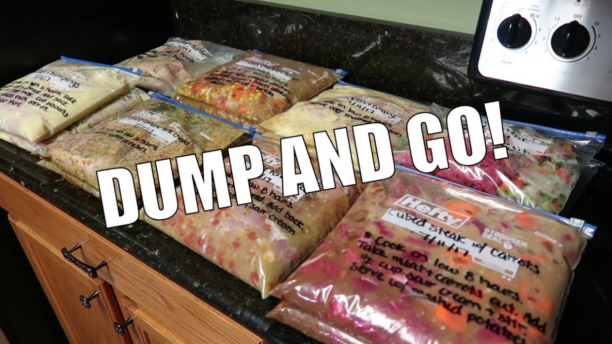 CROCKPOT FREEZER MEALS / PREP WITH ME - Food Recipes You Can Freeze