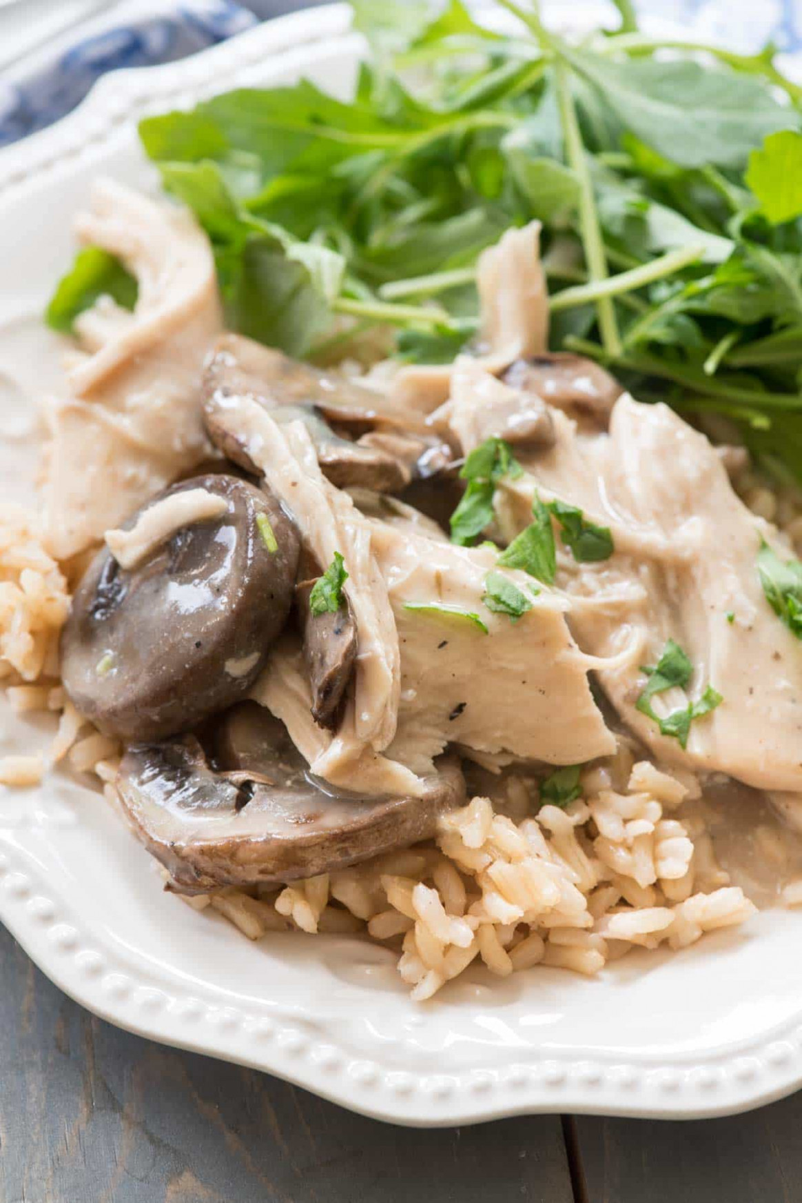 Crockpot Mushroom Chicken - Healthy Chicken And Mushroom Recipes