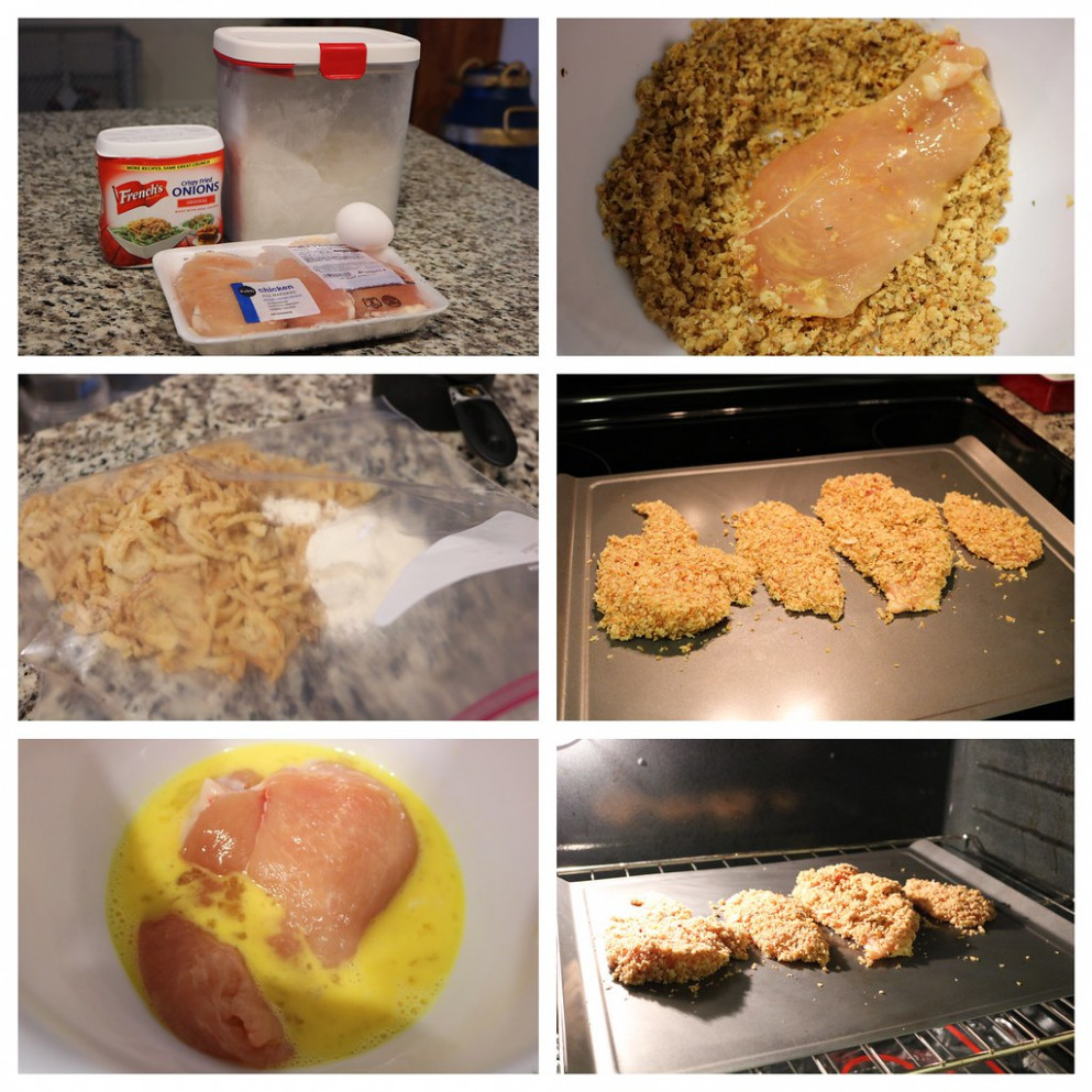 Crunchy Onion Chicken Step-By-Step - food recipes step by step