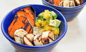 Cuban Quinoa Bowl With Grilled Sweet Potato And Plantain And Avocado Mango  Salsa – Cuban Food Recipes