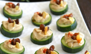 Cucumber Hummus Canapé  My Signature Dish :) | Yes! I Am ..
