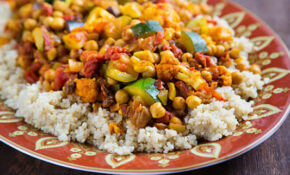 Cumin Infused Vegetables And Chickpeas Over Quinoa ..
