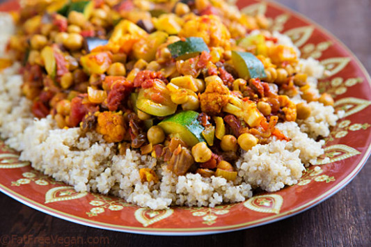 Cumin-Infused Vegetables and Chickpeas over Quinoa ..