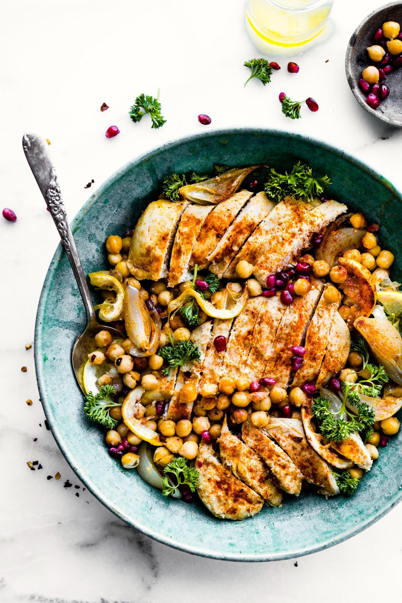 Cumin Roasted Chickpea Chicken Bowls Recipe | Cotter Crunch - recipes bowl food