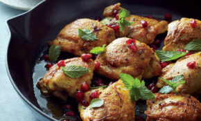 Curried Chicken Thighs With Pomegranate Mint Sauce Recipe ..