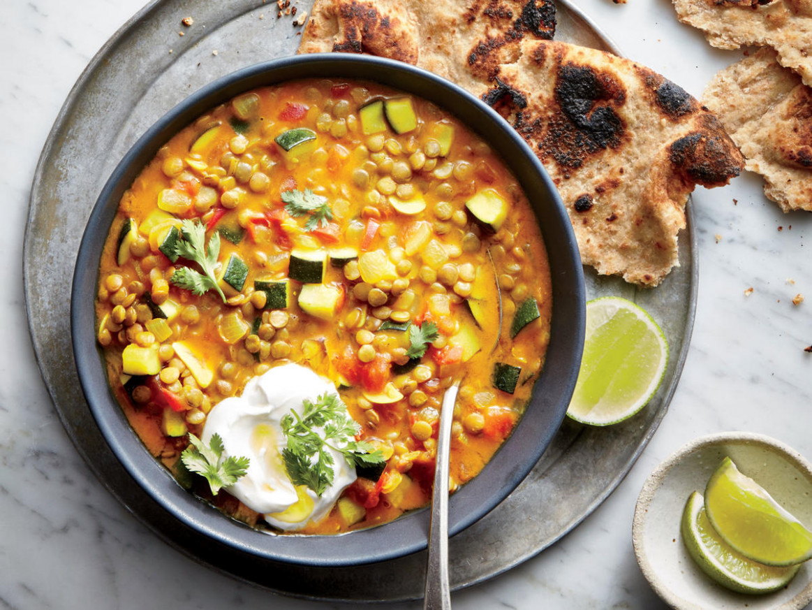 Curried Lentil-and-Vegetable Stew Recipe - Cooking Light - vegan and vegetarian recipes