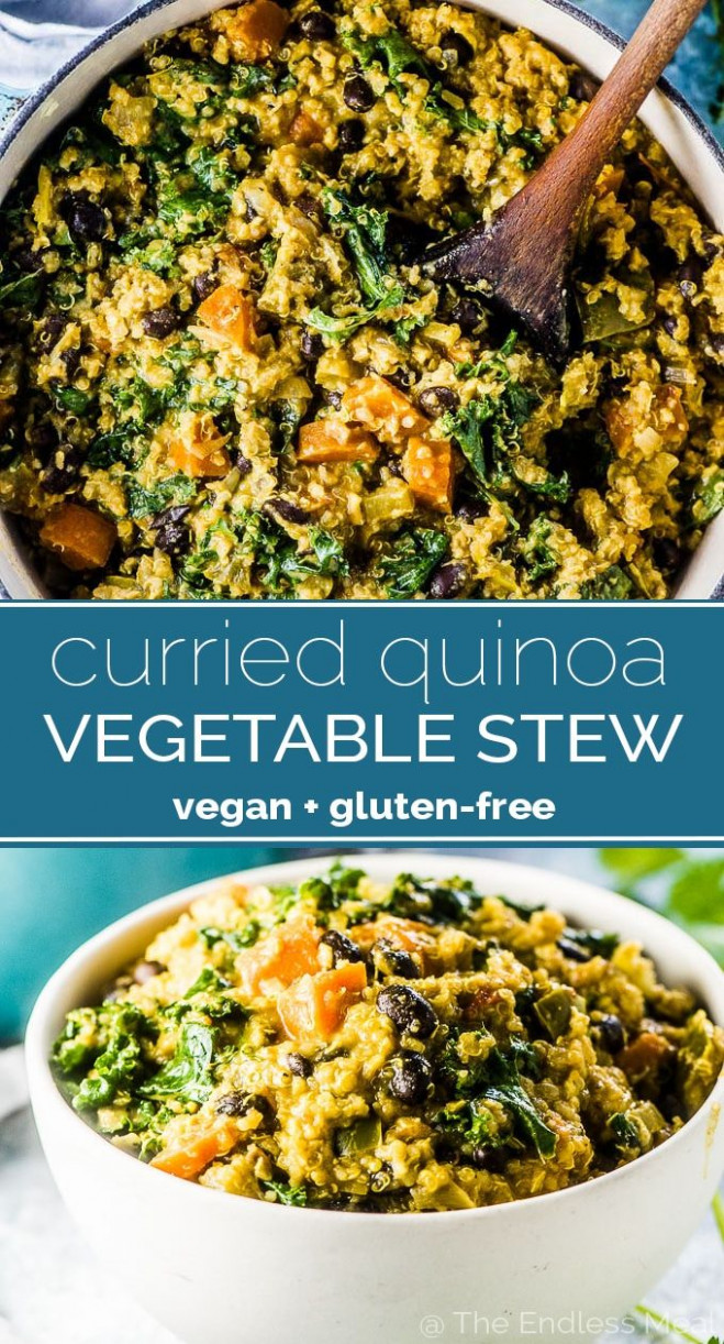 Curried Quinoa Vegetable Stew - Quinoa Dinner Recipes Vegetarian