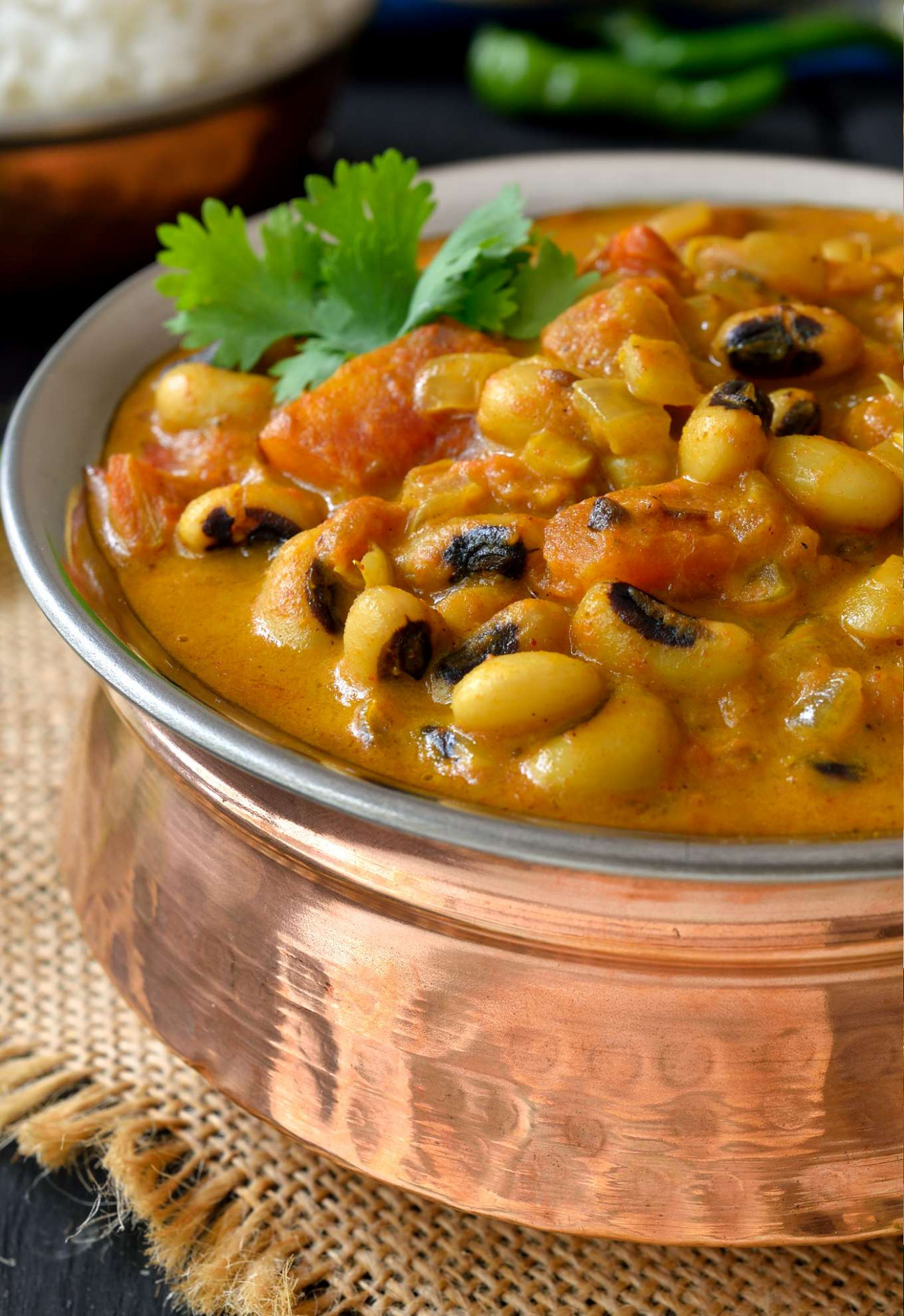 Curried Vegetarian Black-Eyed Peas Recipe | Cilantro and ..
