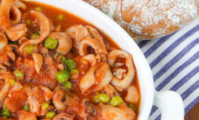 CUTTLEFISH STEW With Green Peas, Italian Style – Recipes Vegetarian Entrees