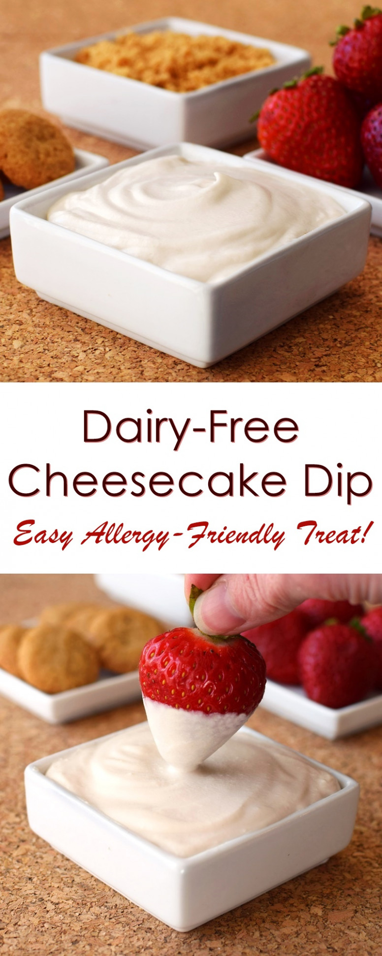 Dairy-Free Cheesecake Dip - recipes vegetarian dairy free