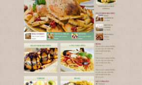 Delicate Food With Recipes Website Template Free Download – Food Recipes Video Download