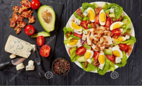 Delicious American Cobb Salad, Classic Recipe Stock Photo ..
