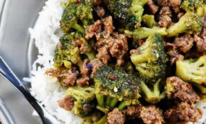 DELICIOUS Ground Beef & Broccoli • FIVEheartHOME – Recipes Minced Beef Healthy