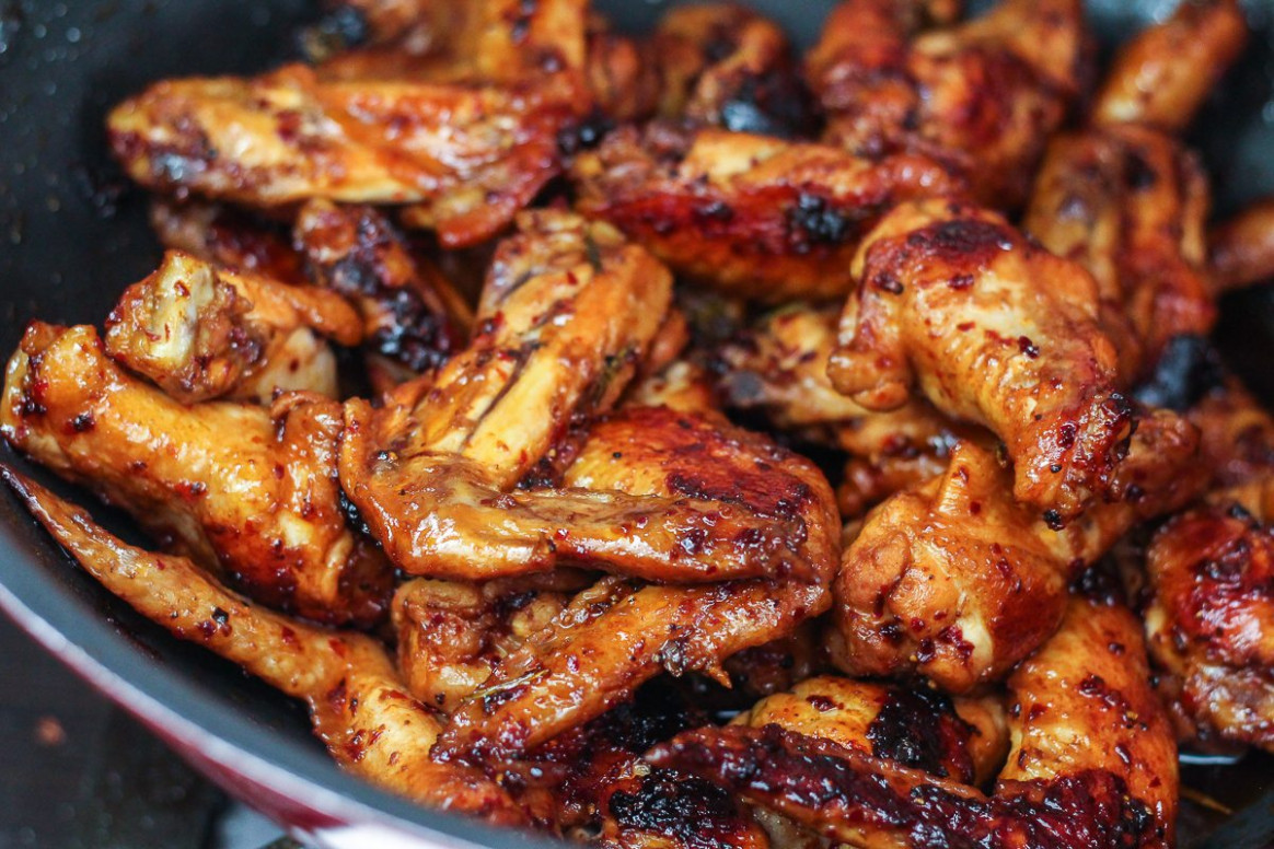 Delicious Stovetop Honey Chicken Wings - stove top recipes chicken