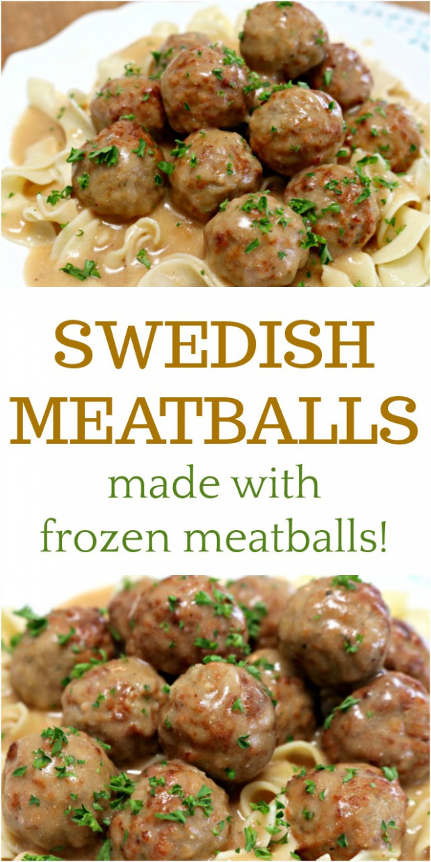 Delicious Swedish Meatballs Using Frozen Meatballs - Mom 4 ..