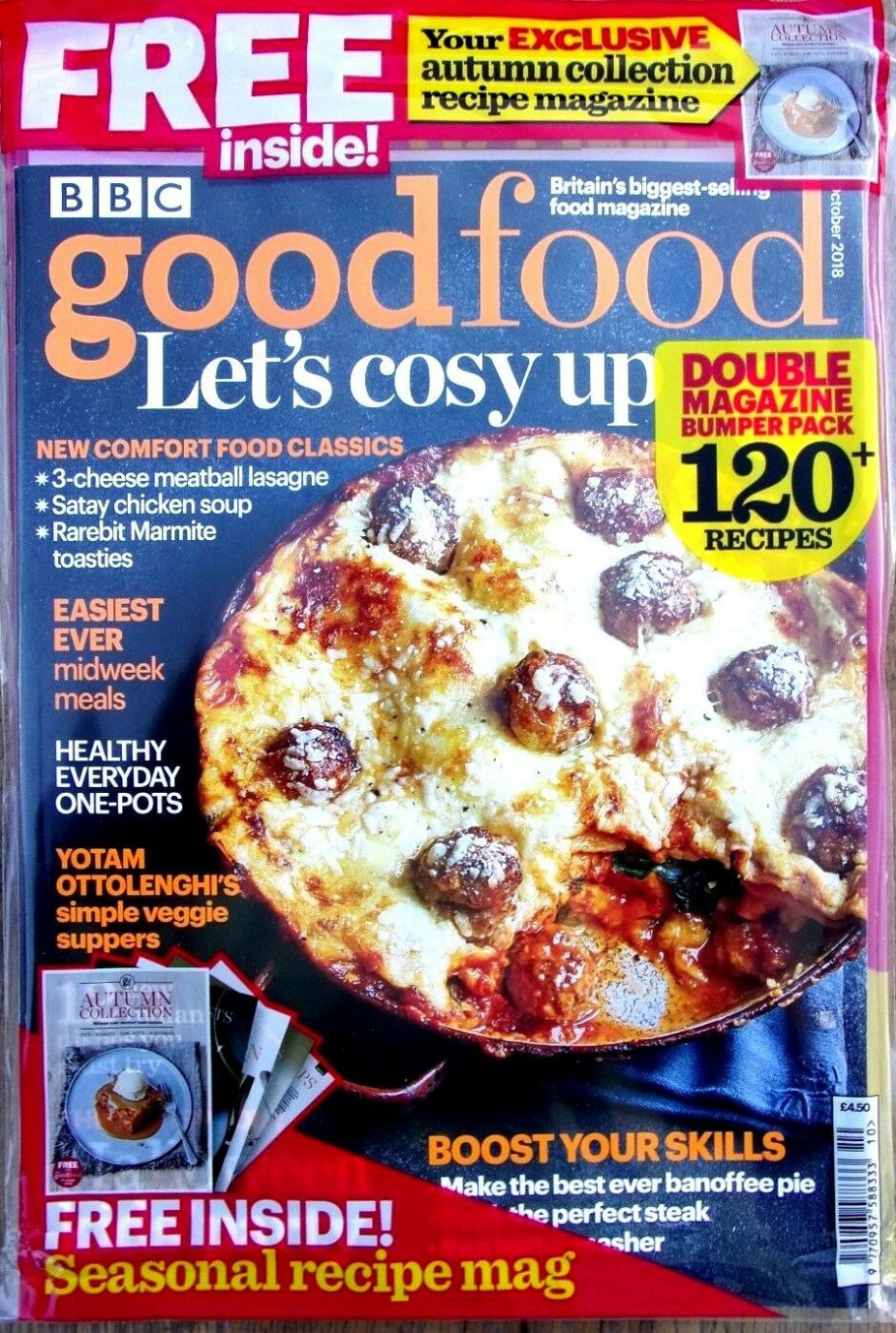Details about BBC GOOD FOOD MAGAZINE OCTOBER 14 WITH FREE AUTUMN  COLLECTION RECIPE MAG ~ NEW - food recipes magazine