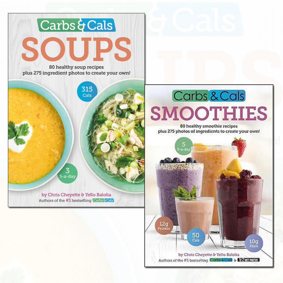 Details about Healthy Recipes Collection Carbs & Cals (Soups and Smoothies)  12 Books Set NEW - healthy recipes book