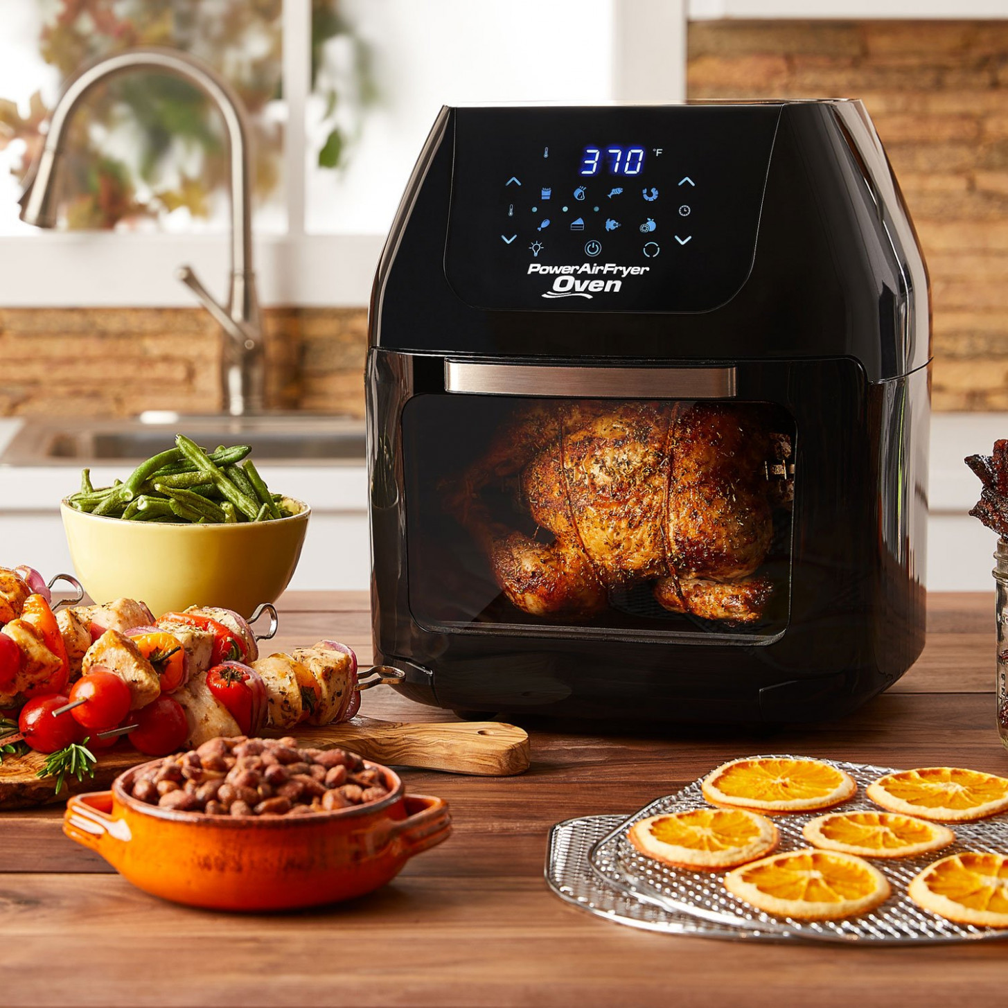 Details about Power AirFryer XL 100 Qt Oven 100-in-10 Multi Cooker Air Fryer  Dehydrator Rotisserie - power air fryer xl healthy recipes